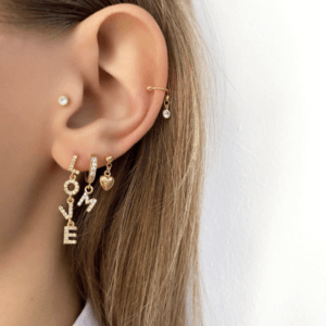 Jean Style - Earpin Shiny Love - Goudkleurig - 15mm