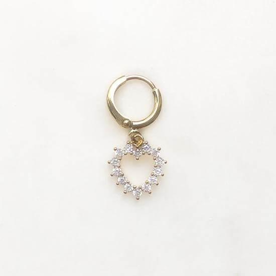 Jean Style - Earring Diamond Love - Goudkleurig - 15mm
