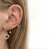 Jean Style – Earring Diamond Love – Goudkleurig – 15mm