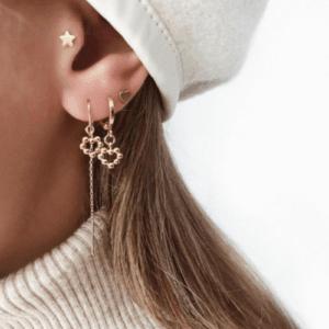 Jean Style - Earring Dot Heart - Goudkleurig - 15mm