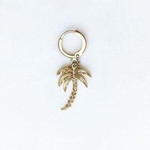 Jean Style - Earring Palmtree - Goudkleurig - 15mm