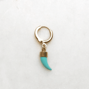 Jean Style - Turqiouse Tooth - Goudkleurig - 15mm