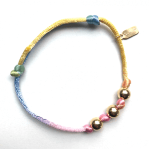 PScallme - FHL PASTEL RAINBOW RIBBON - Sterling Zilver 925
