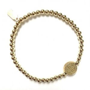 PScallme - Lucky Coin Gold - Sterling Zilver 925 - Gold Plated