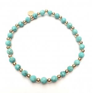 PScallme - MIX TURQUOISE GOLD - Sterling Zilver 925