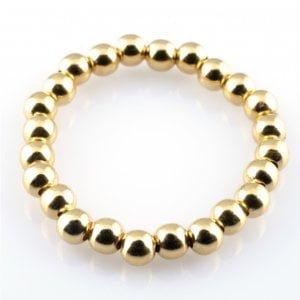 PScallme - RING BASIC GOLD - Sterling Zilver 925