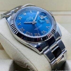 Rolex Datejust 41mm 126334 - Azzurro roman dial - Oyster Bracelet - NEW 2020