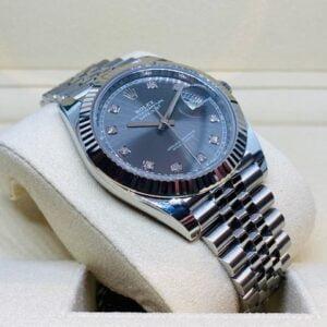 Rolex Datejust 41mm 126334 - Dark Rhodium Diamond dial - NEW 2020