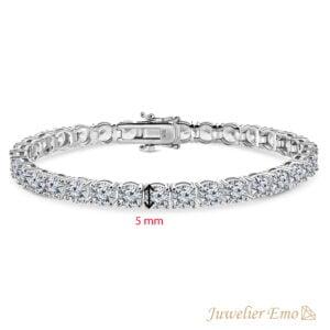 Priscilla's Favorites - Premium Tennis Armband Zilver 925 - Zirkonia stenen 3 MM - Lengte 19 CM