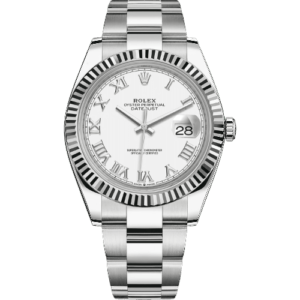Rolex Datejust 41mm 126334 - White Roman Dial - Oyster Bracelet - NEW