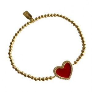 PScallme - HEART CC COLOR RED GOLD COLOURED - Juwelier Emo