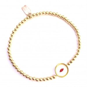 PScallme - LIPS CLEAR RED GOLD - Sterling Zilver 925
