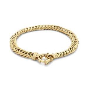 14 Karaat Gouden Gourmet armband - Breedte 6,7 mm - Lengte 19 cm