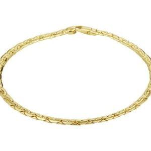 14 Karaat Gouden Fantasie armband - Lengte 19cm