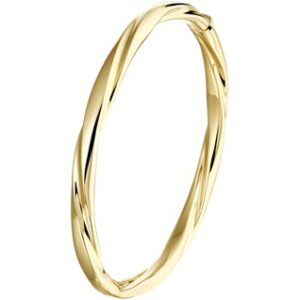 14 Karaat Gouden Bangle Scharnier Armband - Breedte 5,5mm x Diameter 60mm