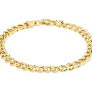 14 Karaat Gouden Gourmet armband - Breedte 6,0 mm - Lengte 19 cm