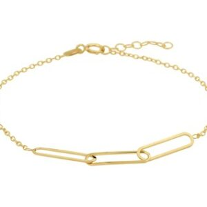 14 Karaat Gouden Closed for ever Armband - L 16-18cm