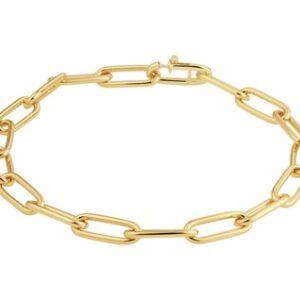 14 Karaat Gouden Closed for ever Armband MASSIEF Breedte 5,0mm - Lengte 18,5cm