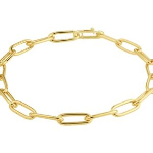 14 Karaat Gouden Closed for ever Armband MASSIEF B5,3mm - L22cm