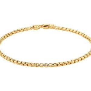 14 Karaat Gouden Armband Ventiaans Bol - Breedte 2,5mm - Lengte 19cm