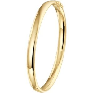 14 Karaat Gouden Bangle Scharnier Armband ovale buis - Breedte 5mm x Diameter 60mm