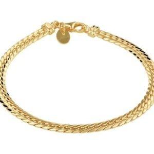 14 Karaat Gouden Gourmet armband - Breedte 4,7 mm - Lengte 19 cm