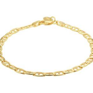 14 Karaat Gouden Anker Armband - Breedte 4,4mm