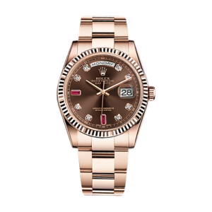 Rolex Day-Date 36 MM 118235 Ruby Dial - 18ct Everose gold - Pre-owned 2016