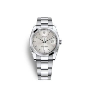 Rolex Date 34mm 115200 - Silver Dial Oyster - NEW 2021